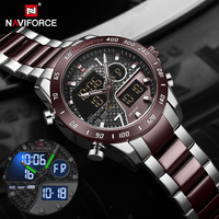 NAVIFORCE Men Digital Watch LED Sport Military Mens Quartz Wristwatch Male Luminous Waterproof Clock Watches Relogio Masculino