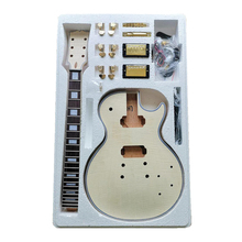 Unfinished Electric Guitar Body with Neck Excellent Handcraft for Musical Electric Instruments