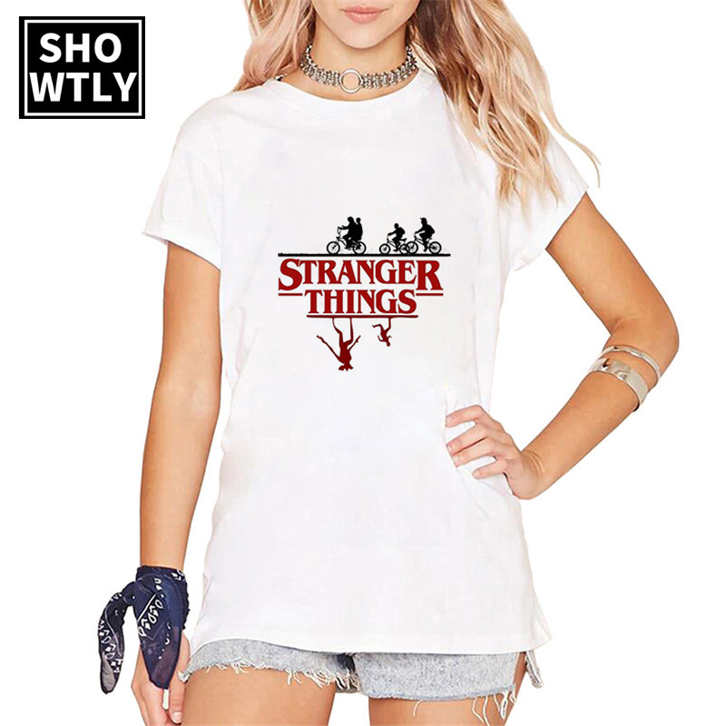 Showtly  Stranger Things Women Clothes 2019 Billie Eilish Harajuku Gothic T Shirt Vintage Aesthetic Plus Size Women Streetwear