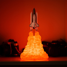 BRELONG new strange led night light creative decoration 3D rocket light moon table lamp