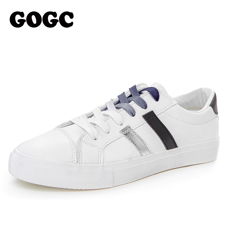 GOGC Women Sneakers Flat Shoes Women Running Shoes White Sneakers Women Shoelaces Shoes Slipony Krasovki Woman Canvas Shoes G783