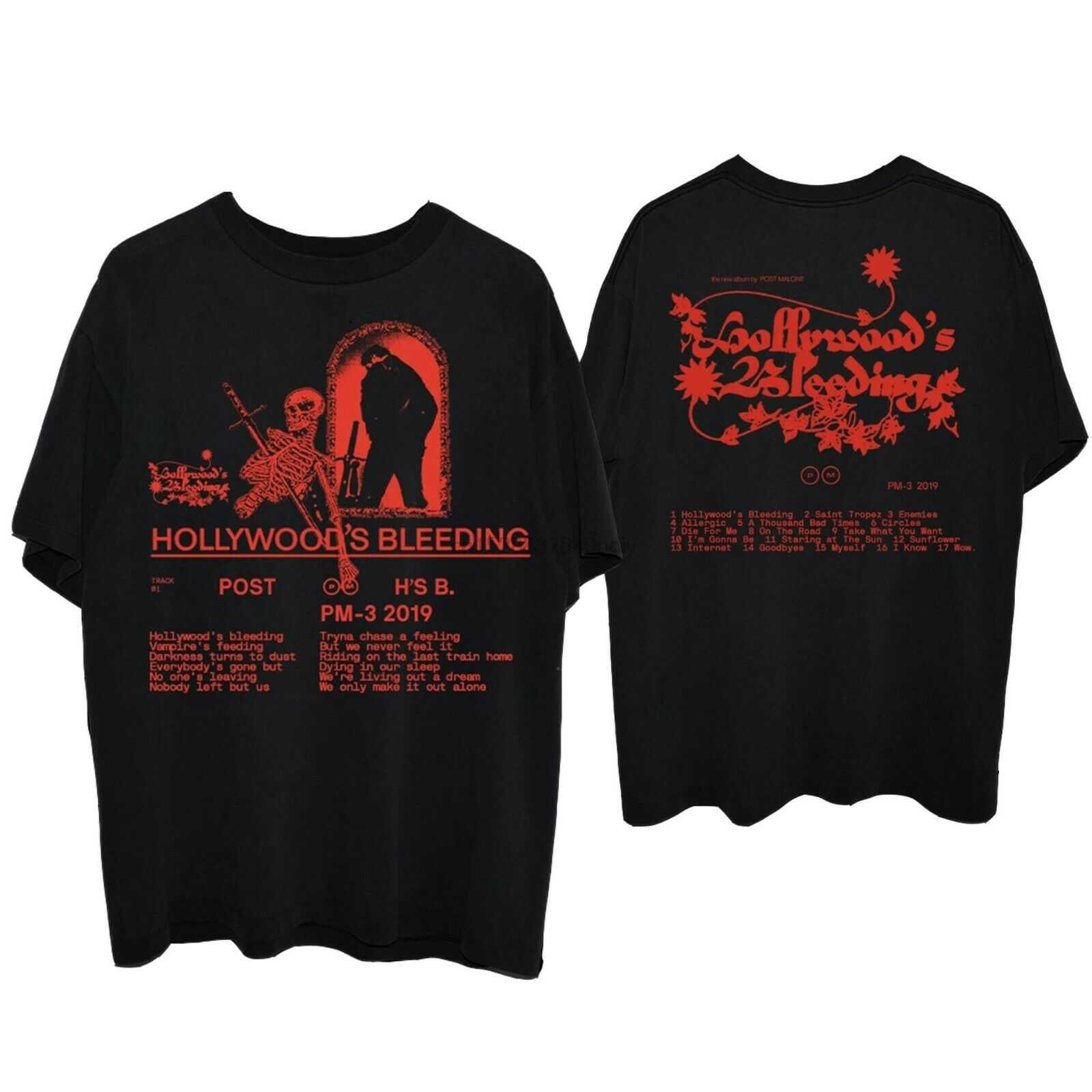 Post Malone Hollywood Bleeding Black camiseta