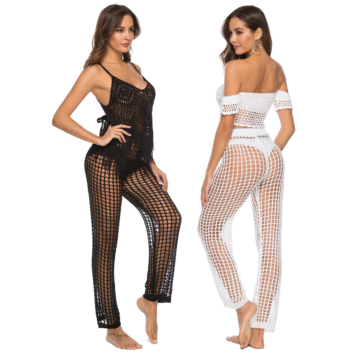 WOMEN'S Dress Hot Sales-Nightclub Hollow Out Trousers Hook Knitted Beach Shorts