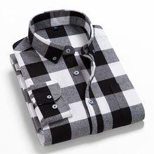 2021春秋のチェック柄シャツ男性綿新しい男性カジュアル長袖シャツ高品質男の服