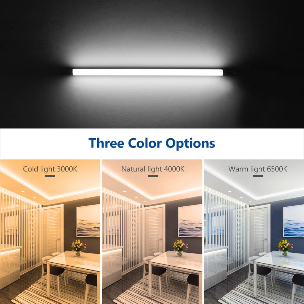 <font><b>LED</b></font> Tube T5 T8 Integrated Light 30cm 60cm 90cm 120cm 5W 9W 14W <font><b>18W</b></font> <font><b>LED</b></font> Fluorescent Tube Lampara 3-color Switch Color AC85-285V image