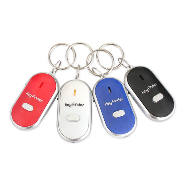 Wireless Whistle LED Light Torch Remote Sound Control Lost Key Finder Locator Anti-Lost Keychain Creative Color Keychain 4.20