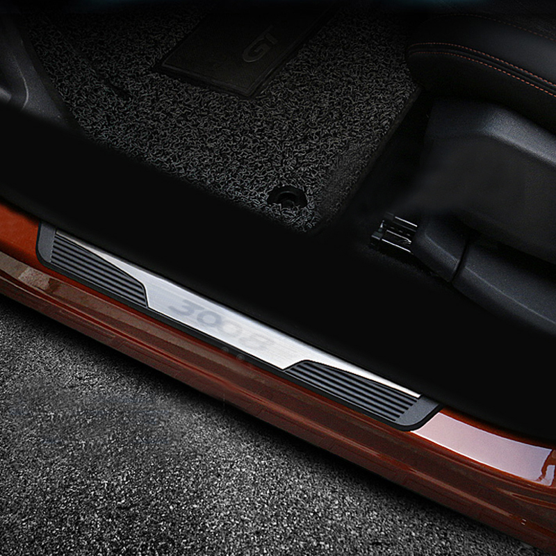 ACAMPTAR for 3008 3008GT Car Door Sill Scuff Plate Trim Steel Protector Plates Interior Accessories 2017-2019