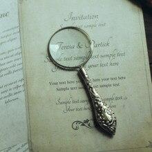 Vintage Retro lupa czytanie szkła Handheld srebrny fotografia rekwizyty