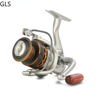 Double Spool Fishing coil Wooden handshake 12 1BB Spinning Fishing Reel Professional Metal Left/Right Hand Fishing Reel Wheels