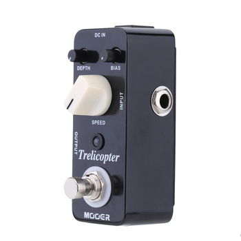 Mooer Trelicopter Micro Mini Optical Tremolo Effect Pedal for Electric Guitar True Bypass 1 pcs loop box riot distortion single guitar effect pedal true bypass guitar mini guitar effect pedal