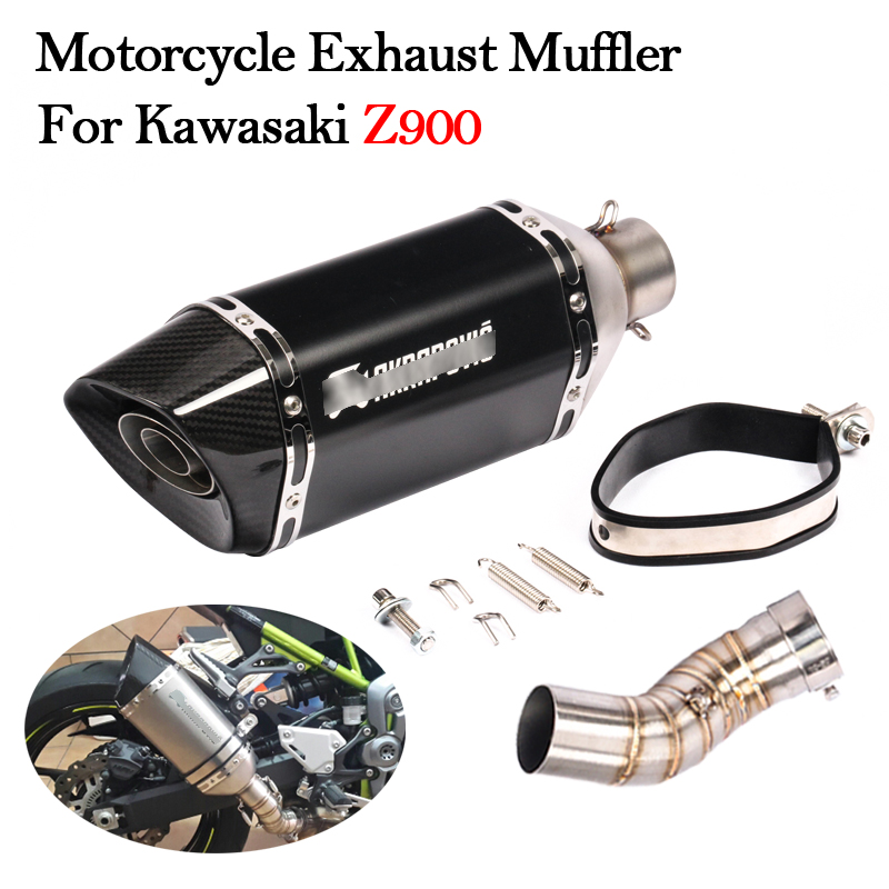 Motorcycle Exhaust Z900 Kawasaki Muffler-Pipe Slip-On with Middle-Connection-Link-Pipe