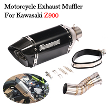Slip On Motorcycle Exhaust Muffler Pipe Modified With Middle Connection Link Pipe For Kawasaki Z900 Z900 A2 2017 2018 2019 Yeras motorcycle exhaust middle pipe z900 connection link pipe fit for 51mm muffler slip on for z900 exhaust z900 mid pipe