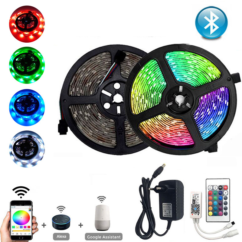 5M//10M//15M kit LED Strip Light RGB 5050 SMD 2835 60LED//m Flexible Ribbon Stripe