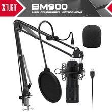 Xtuga студийный usb конденсаторный микрофон для ПК с регулируемым