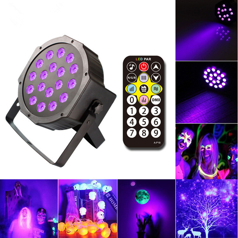 18W UV LED Black Light Bar Glow In The Dark Party Supplies For Stage Lighting Halloween Body Paint Fluorescent Poster Birthday