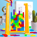 Tetris Game Colorful 3D Puzzle Tangram Math Toys Children Preschool Imagination Intellectual Educational Montessori Toy for Kids