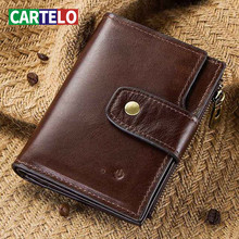 CARTELO fashion high-end leather men's wallet smart bluetoot