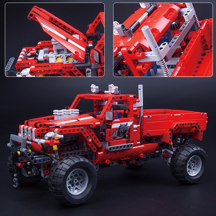3362 1063pcs technic 2 in 1 pickup truck 1053pcs suv off-road 42029 building block Bricks Toys