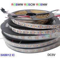 1 M/3 M/5 M DC5V 4 di Colore in 1 SK6812 Ha Condotto La Striscia Rgbw + Nw/ cw/Ww Nastro di Luce 30/60/144 Leds/M IP30/IP67; addressablesimilar Ws2812b