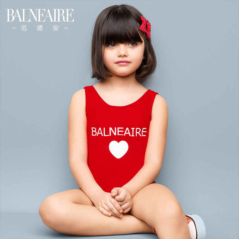 Balneaire Girls One-piece Baby GIRL'S Medium-sized Child Bathing Suit Tour Bathing Suit Cute Parent And Child-Industry Swimwear