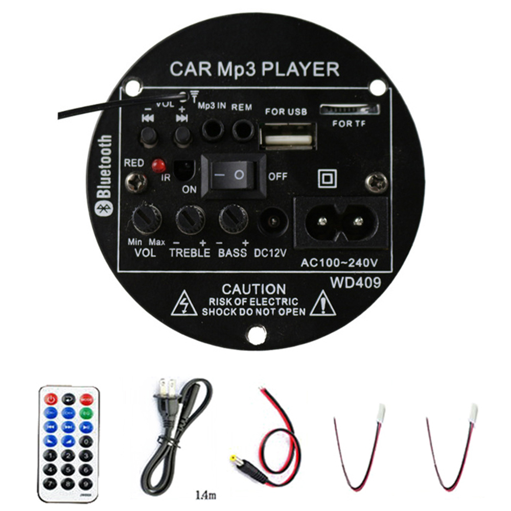 35W Car Bluetooth Bass Radio Audio Amplifier Subwoofer Remote Controller U-disk brand new and high quality image