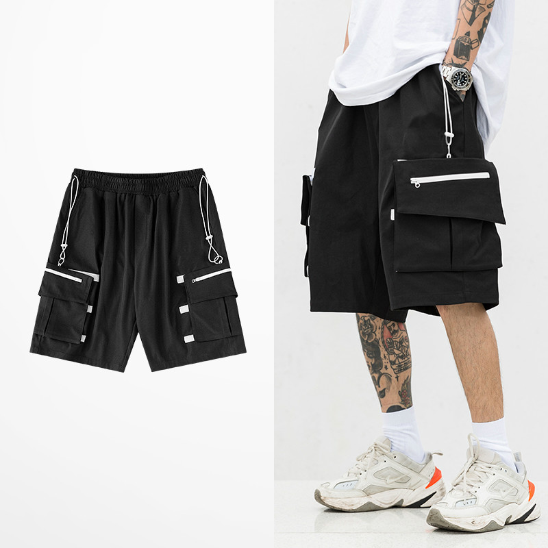 Fashion Ins Short Pants For Men And Women Tide Brand Hip Hop Japanese Style Cargo Shorts Male Retro Rock Punk Streetwear Shorts
