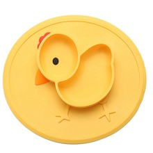 Table Mat Baby Chick Hidangan Silikon Piring Suction Tray Anti Slip Mini Mat Anak Makan Buah Tray Balita Tatakan(China)