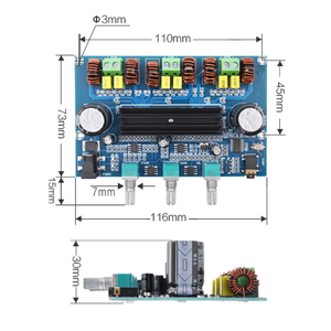 Image 3 - XH A305 Bluetooth 5.0 Audio Stereo Digital Power Amplifier Board TPA3116D2 50Wx2+100W 2.1 Channel Bass Subwoofer AMP Module