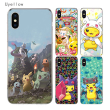 Uyellow Cute Pokemans Pikachues Trend Cover For Iphone 5 6S 7 8 9 10 Plus Silicone Soft Phone Case Apple X XR XS MAX Coque