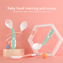 Baby Soft Silicone Spoon Infant Feeding Spoon Utensils Auxiliary Food Spoon Learn Eat Training Soft Spoon Children Tableware