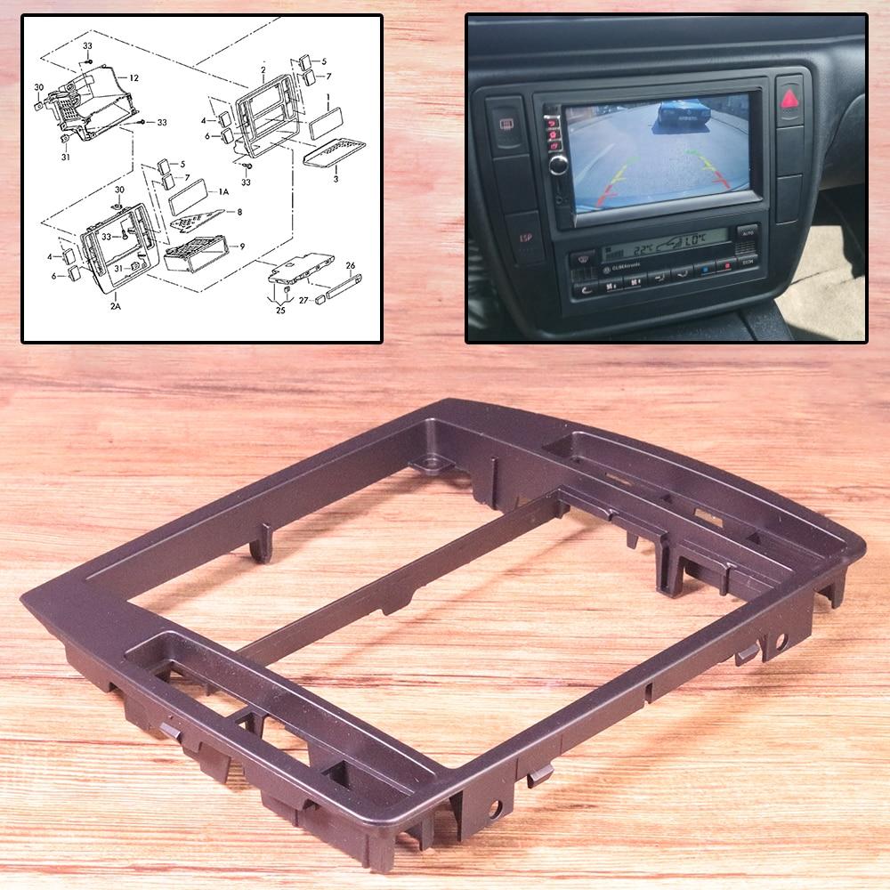 ABS Black Interior Dash Center Console Trim Bezel Panel Radio Face Frame 3B0858069 Fit For VW Passat B5 2001 2002 2003 2004 2005-1