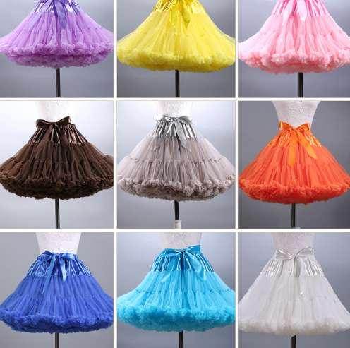 Women Wedding Petticoat Bridal Mnini Tutu Skirt Puffy Tulle Skirts Party Dance Sexy Women Short Princess Ball Gown Mesh Skirts