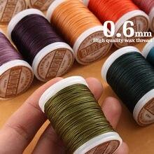 2021 fio encerado redondo para o ofício de couro costura cordão de poliéster cera revestido cordas trançado carteira sela saco diy sapatos 0.6mm