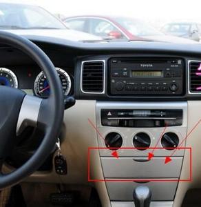 Cruscotto Aria Condizionata Pannello di Rivestimento Centrale di Controllo Della Copertura Per Toyota Corolla 2003-17(China)