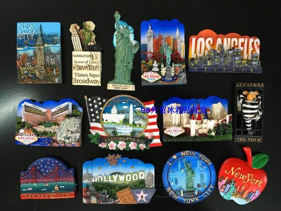 United States Las Vegas Souvenirs New York San Francisco 3D Fridge Magnets Travel Souvenir Kitchen Home Decoration Accessories image