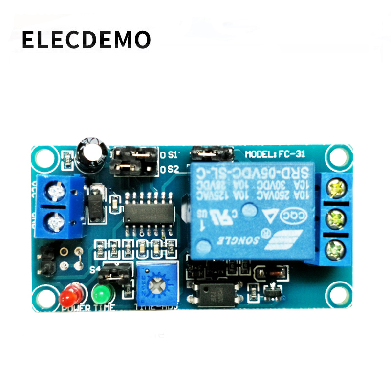 5V12V normally open trigger delay circuit relay module timing vibration alarm optocoupler isolation Function demo Board-in Demo Board Accessories from Computer & Office