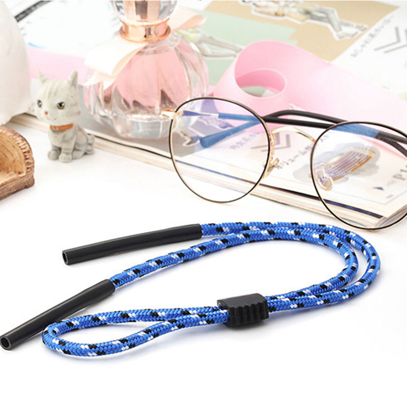 Hot Sale 1Pc Sunglasses Adjustable Neck Strap Eyeglass Glasses Lanyard String Holder Sports Glasses Hanging On The Rope(China)