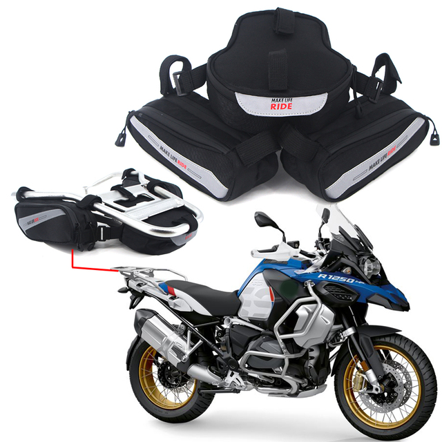 $ US $16.43 For BMW R1250GS ADV LC R 1250 GS R1250 Adventure Motorcycle Saddle Bag Saddlebag Tailbag Tail Bag Mount Panniers Rack Top case