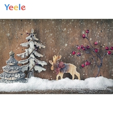 Yeele Christmas Photocall Old Wood Decors Snow Elk Photography Backdrops Personalized Photographic Backgrounds For Photo Studio yeele christmas photocall candy old wood gift decor photography backdrops personalized photographic backgrounds for photo studio