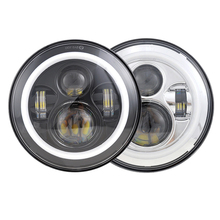 Motorcycle Led Halo Headlight 7 Inch For Harley 45W Projector Led With Turning Light For Harley Sportster Motorcycle Headlight