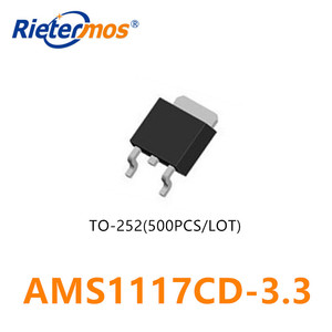 Image 1 - 500PCS AMS1117CD 3.3  AMS1117CD AMS1117 3.3 TO 252 HIGH QUALITY
