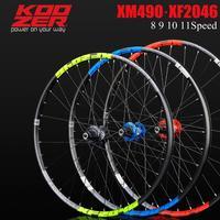 KOOZER XF2046 rim MTB Mountain Bike Wheelset 26/27.5/29er inch 72 Ring 4 Bearing Thru or QR Wheels use XM490 hub 8 9 10 11speed