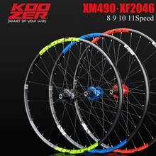 KOOZER XF2046 обод МТБ горный велосипед колесная 26/27.5/29 дюймов 72 кольца 4 подшипника через или QR колеса использовать XM490 концентратор 8 9 10 11 скорост...