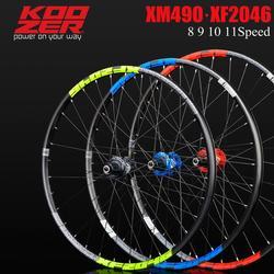 KOOZER XF2046 jante vtt VTT paire de roues 26/27.5/29er pouces 72 anneau 4 roulement à travers ou QR roues utiliser XM490 moyeu 8 9 10 11 vitesses