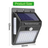 25 led 태양 빛 야외 태양 램프 전원 된 햇빛 방수 pir 모션 센서 정원 장식에 대 한 거리 빛 실외용 벽전등 등 & 조명 -