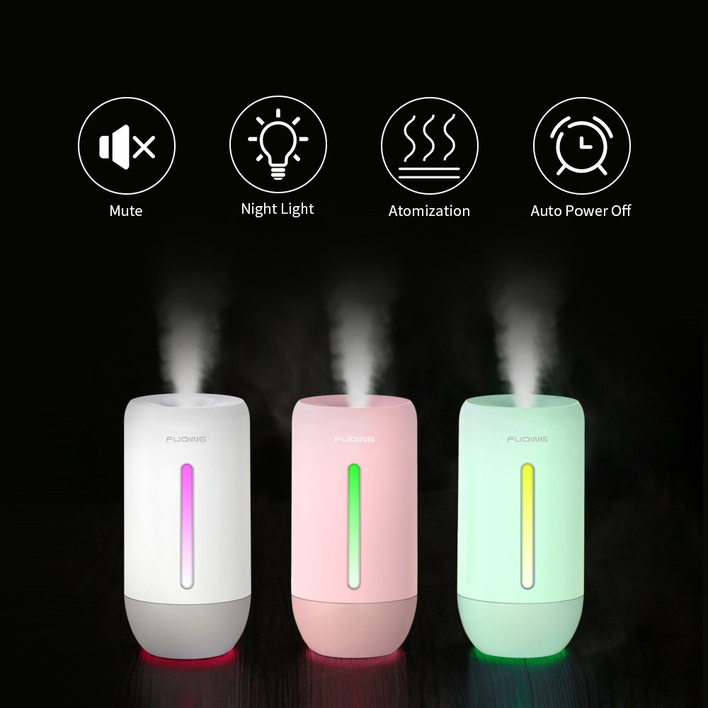 Mini Air Humidifier For Home Car Office USB 280ML Bottle Aroma Diffuser LED Mist Mist Nano Sprayer Refresher Mute Humidification