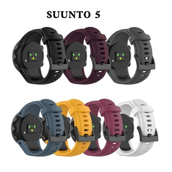 Bracelet outdoors Sports Silicone watch strap For Suunto 5 watchBand Smart Replacement Silicon Strap Wristband Accessories - discount item  40% OFF Watches Accessories