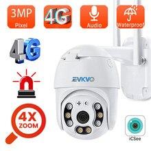 4G сим-карта IP Камера 3MP PTZ Wi-Fi Камера 4X цифровой зум Автоматическое отслеживание наружного видеонаблюдения Беспроводной PTZ IP мини Камера ICSEE