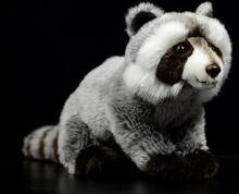 lifelike toy squatting raccoon plush toy about 27cm soft doll baby toy Christmas gift h1649(China)