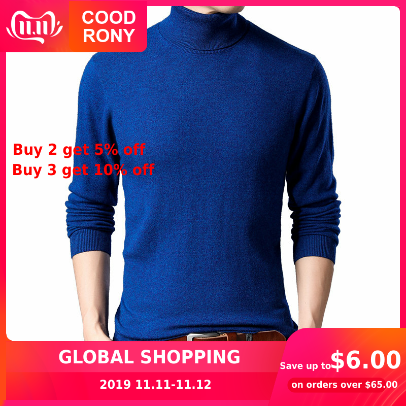 COODRONY Sweater Men Classic Casual Turtleneck Pull Homme Autumn Winter Merino Wool Sweaters Knitted Cashmere Pullover Men 93009